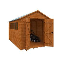 Tiger Heavyweight Workshop Shed | Special Log Board Cladding