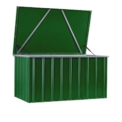 Lotus Metal Storage Box in Heritage Green