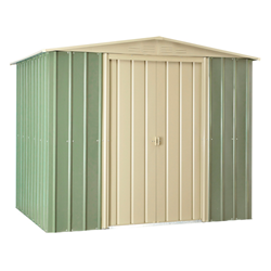 Lotus Metal Apex Shed in Mist Green
