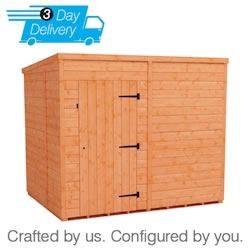 Tiger Flex Pent™ Windowless Shed