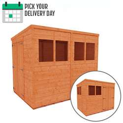 TigerFlex Shiplap Pent Double Door Shed