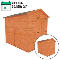 TigerFlex Shiplap Apex Windowless Double Door Shed