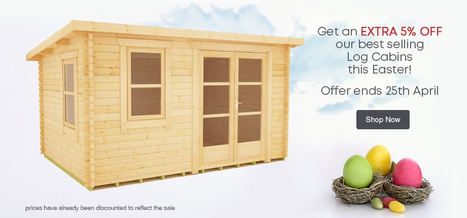 5 off 5 - 5% Off our Top 5 Log Cabins. Ends 25th April