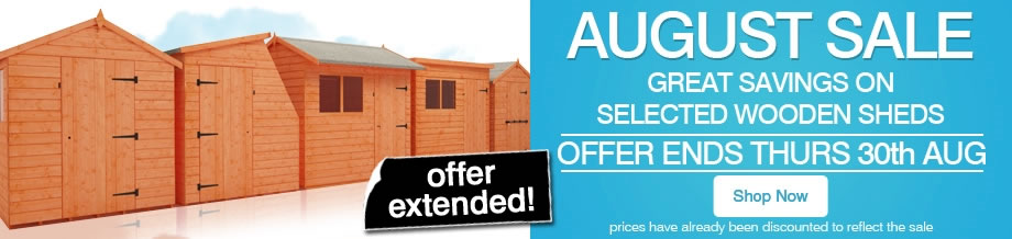 August Sale - Ends Thursday 30th August