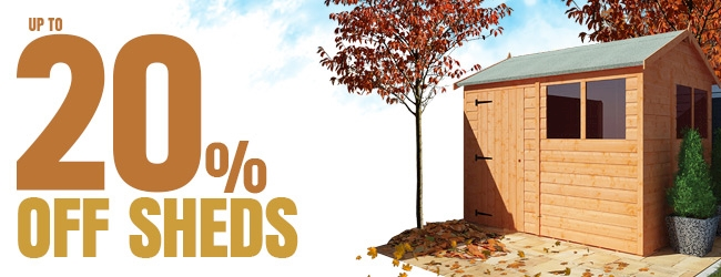 Up to 20% Off Sheds