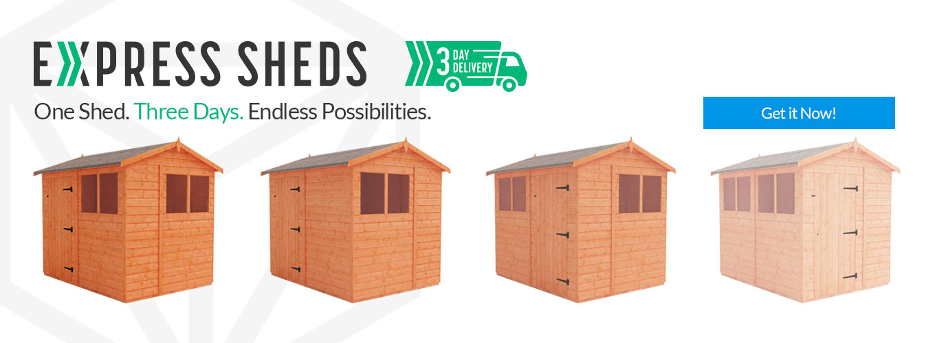 Flex Sheds available in 3 working days