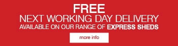 Free Next Day Delivery On Express Sheds