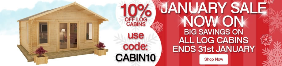 10% Off ALL Log Cabins - Ends 31st January