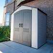 Lifetime Plastic Storage Shed - In garden