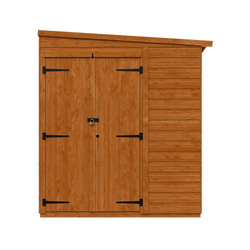 8x6w Flex Pent Security Double Door