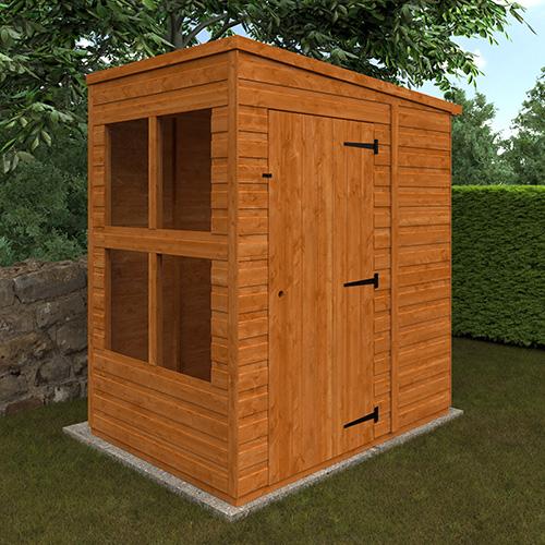 4x6w TigerFlex® Shiplap Pent Sunroom