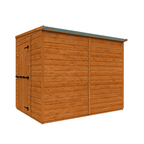 TigerFlex® Pent Security Shed 8x6w - Right