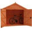 Huge Double Doors - Great For Storage!  bike not included