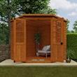 Corner Summerhouse 7x7 Lifestyle Front Open