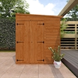 8x6w Flex Pent with Double Doors - Lifestyle