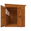 8x6 Flex Pent with Double Doors - Front Open
