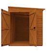 8x6 Windowless Flex Pent with Double Doors - Front Open
