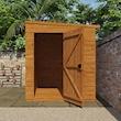 8x6w Flex Pent Windowless - Lifestyle - Front - Open