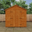 Tiger Heavyweight Workshop Shed   Special Log Board Cladding Lifestyle Front Closed