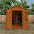 Tiger Heavyweight Workshop Shed   Special Log Board Cladding Lifestyle Front