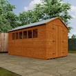 Tiger Heavyweight Workshop Shed   Special Log Board Cladding Lifestyle Left