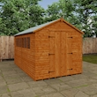 Tiger Heavyweight Workshop Shed   Special Log Board Cladding Lifestyle Closed