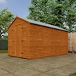 Tiger Heavyweight Workshop Shed   Special Log Board Cladding Lifestyle Right