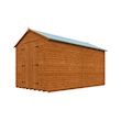 Tiger Heavyweight Workshop Shed   Special Log Board Cladding Right