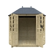 8x6w Pressure Treated Octagonal - Front