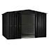Lotus Metal Apex Shed Anthracite Grey size 7x10 Doors open