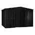 Lotus Metal Apex Shed Anthracite Grey size 7x10