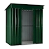 Lotus Metal Pent Shed Heritage Green size 6x4 Doors open